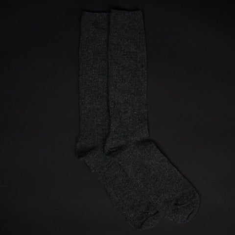 CHARCOAL THE SOFTEST CASHMERE SOCKS - THE LODGE  - 1