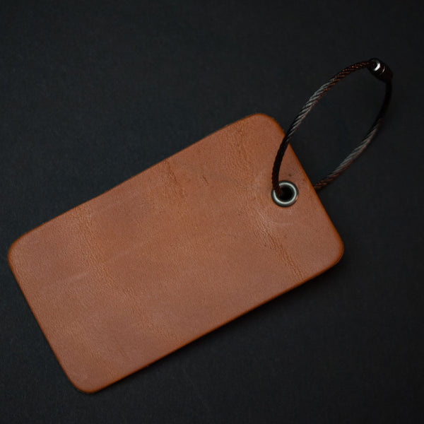 The Lodge Luggage Tag Tan Monogrammed Travel Accessories