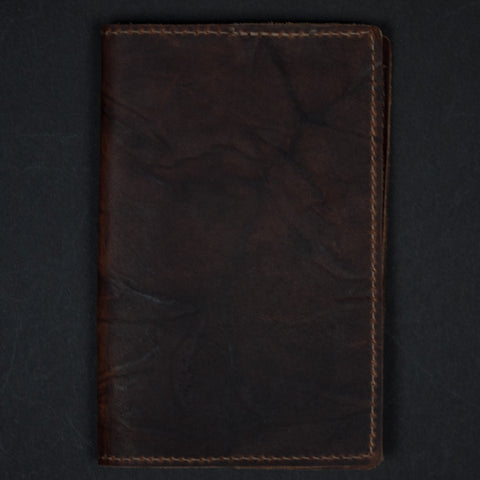 BROWN LEATHER FIELD NOTES AND PASSPORT HOLDER - THE LODGE - 1