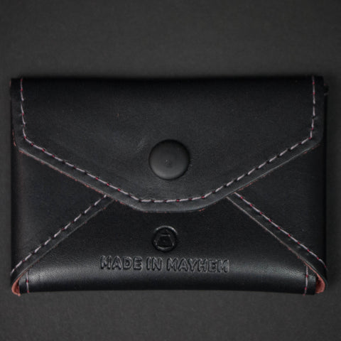 BLACK MONROE SOFT LEATHER CARD HOLDER
