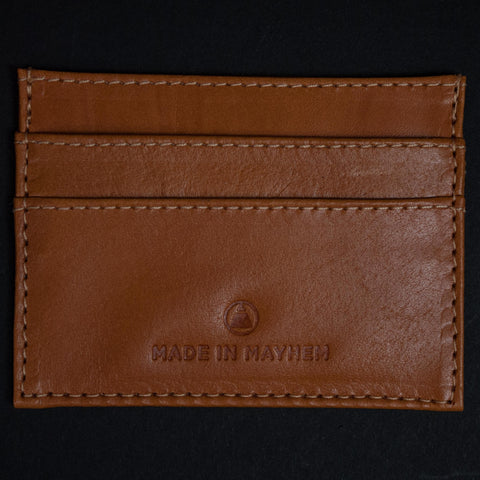 Made in Mayhem Saddle Carr Leather Slim Wallet at The Lodge
