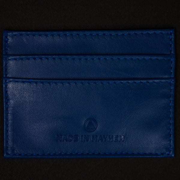 COBALT CARR LEATHER SLIM CARD WALLET - THE LODGE  - 1