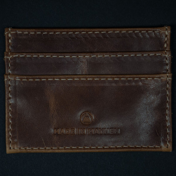CHESTNUT CARR SLIM CARD WALLET SOFT LEATHER - THE LODGE  - 1