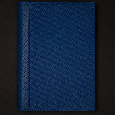 Made in Mayhem Hemingway Cobalt Perforated Leather Journal at The Lodge