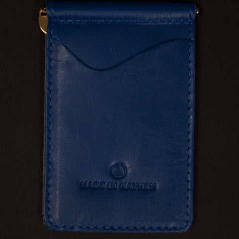 Made in Mayhem Cobalt Madison Money Clip Wallet at The Lodge