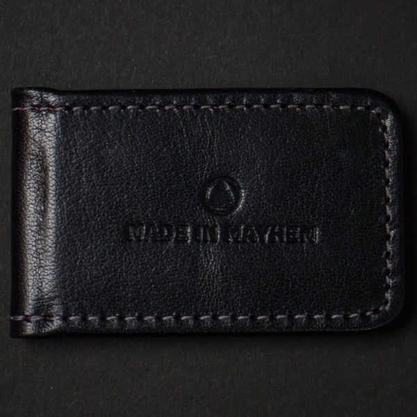 Made in Mayhem Hamilton Leather Money Clip Black at The Lodge