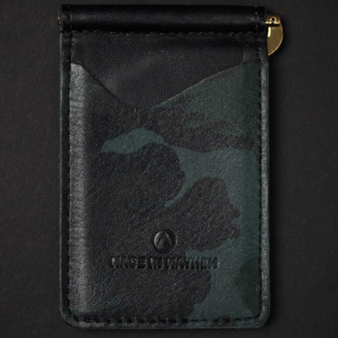 Made in Mayhem Madison Money Clip Wallet Camouflage at The Lodge