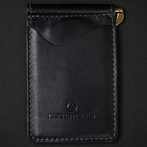 Made in Mayhem Madison Money Clip Wallet Black at The Lodge