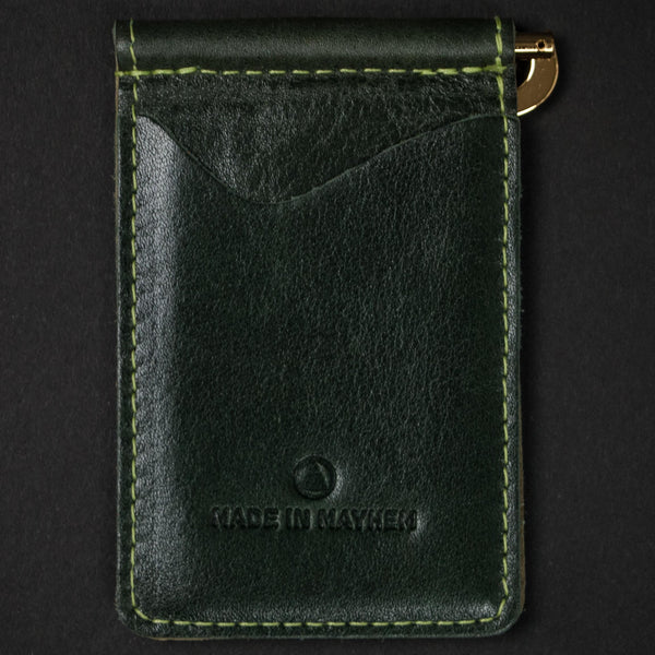 Made in Mayhem Madison Money Clip Wallet Olive at The Lodge