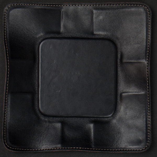 Made in Mayhem Jet Black Perforated Leather Valet Tray at The Lodge