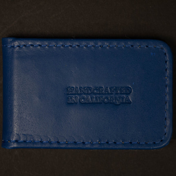 Made in Mayhem Cobalt Hamilton Leather Money Clip at The Lodge