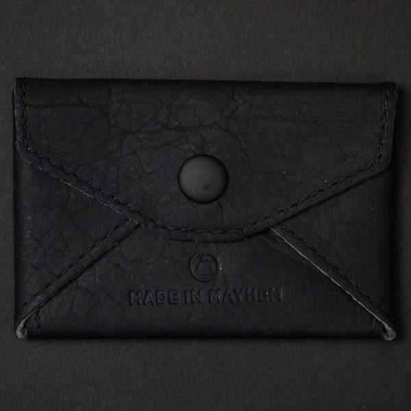 Made in Mayhem Monroe Leather Card Wallet Black at The Lodge