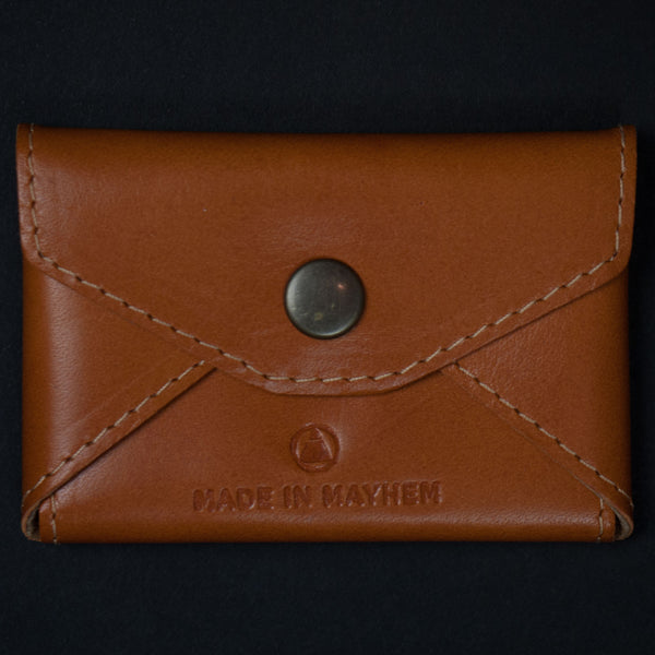 Made in Mayhem Saddle Monroe Leather Card Wallet at The Lodge