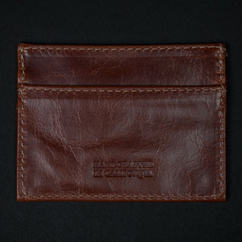 Made in Mayhem Tan Leather Carr Slim Card Wallet at The Lodge