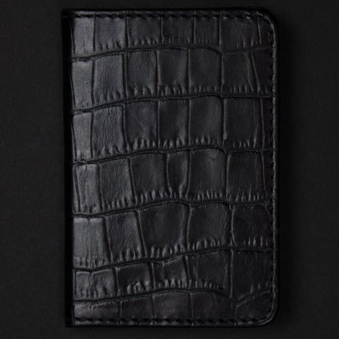 Made in Mayhem Washington Leather Wallet Black Embossed at The Lodge