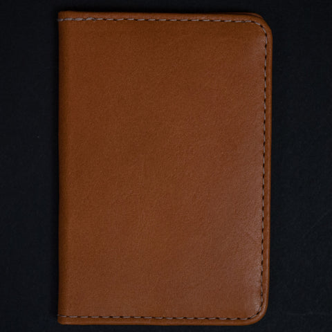 Made in Mayhem Washington Leather Bi-Fold Wallet Saddle at The Lodge