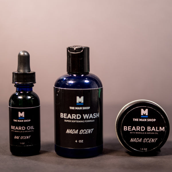 FULL BEARD SET- WASH, BALM, OIL- CHOOSE SCENT