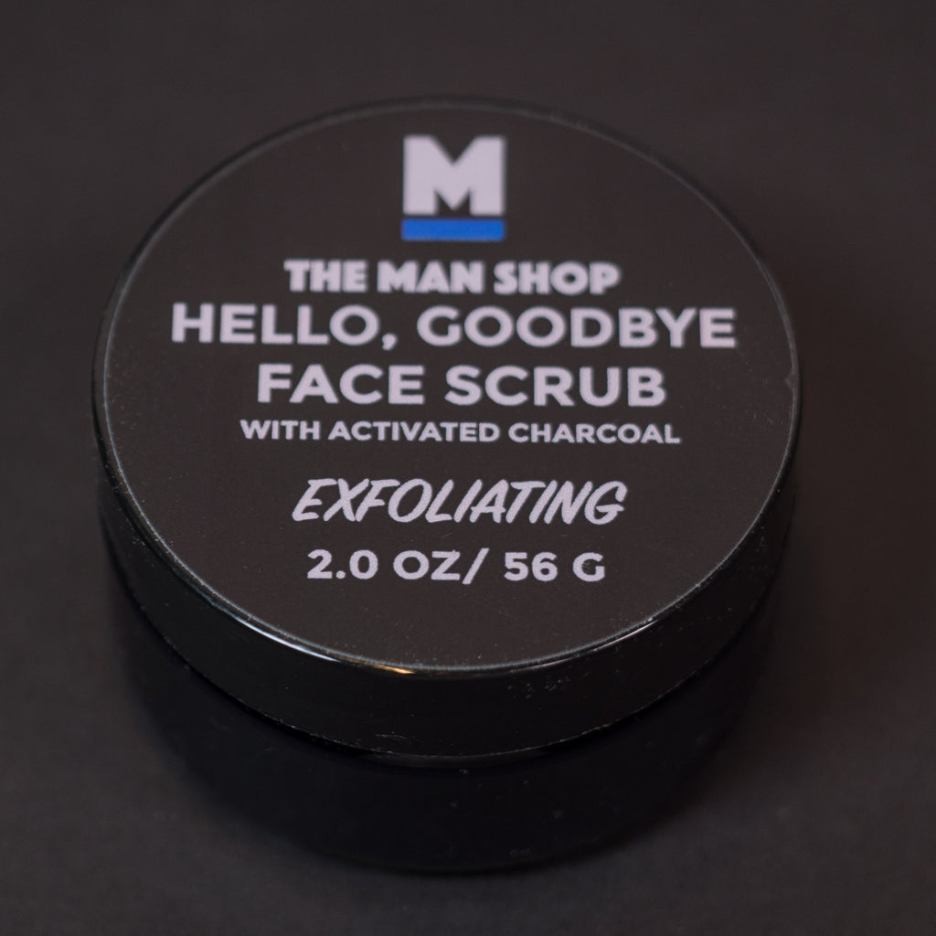 HELLO, GOODBYE CHARCOAL FACE SCRUB THE MAN SHOP
