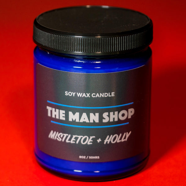 MISTLETOE & HOLLY HOLIDAY CANDLE MAN SHOP