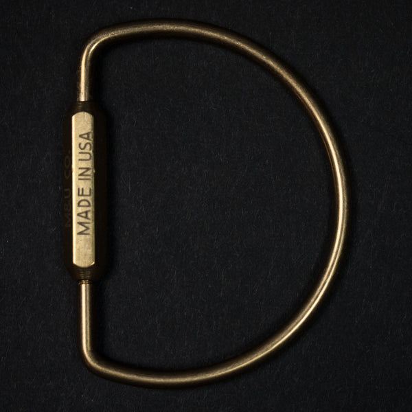 GREENPOINT KEY RING BRASS - THE LODGE  - 1
