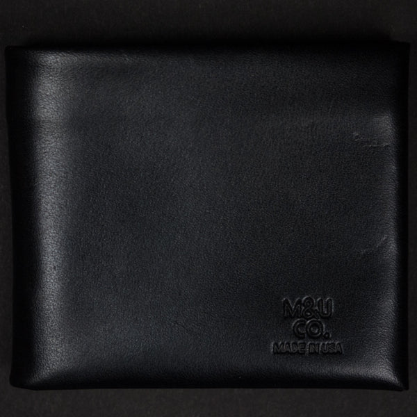 MAXX & UNICORN BLACK BILLFOLD BRIDLE LEATHER - THE LODGE  - 1