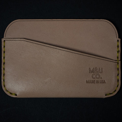 Maxx & Unicorn Bridle Leather Credit Card Wallet Oak at The Lodge