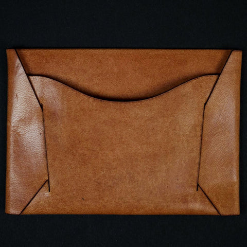 Maxx & Unicorn Leather Card Sleeve Wallet Russet at The Lodge