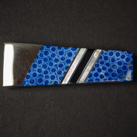 Santa Fe Stoneworks Blue Brain Coral Money Clip at The Lodge