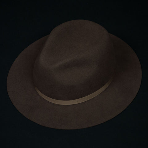 TAN WOOL FELT HOMESTEAD HAT - THE LODGE  - 1