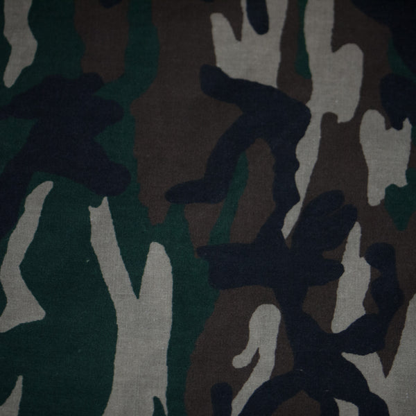 WASHED OLIVE CAMOUFLAGE BANDANA - THE LODGE  - 1