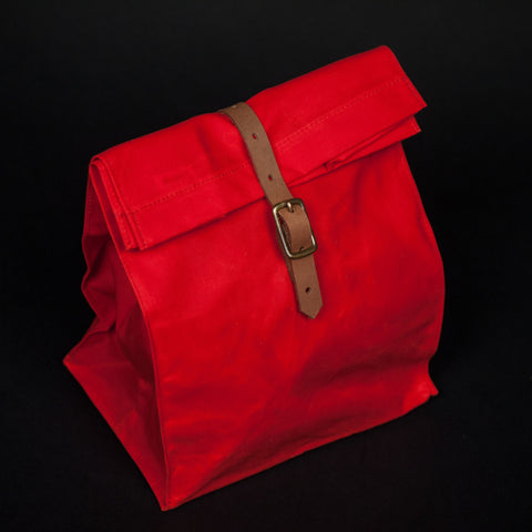 WAXED CANVAS LUNCH BAG ORANGE - THE LODGE  - 1
