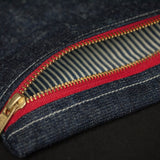 DENIM ZIP POUCH - THE LODGE  - 2