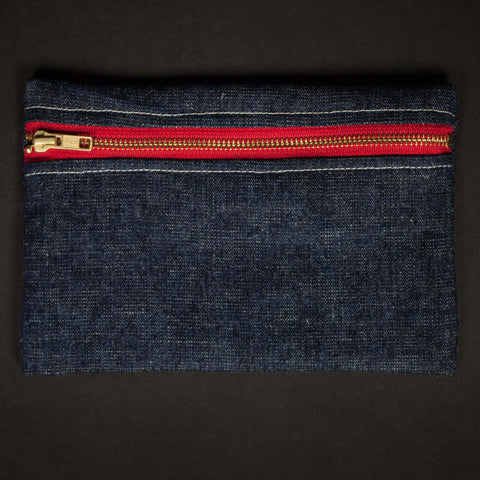 DENIM ZIP POUCH - THE LODGE  - 1