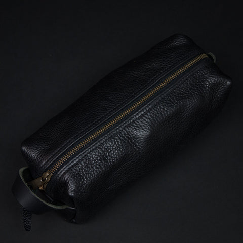 TM1985 Black Leather Dopp Kit at The Lodge