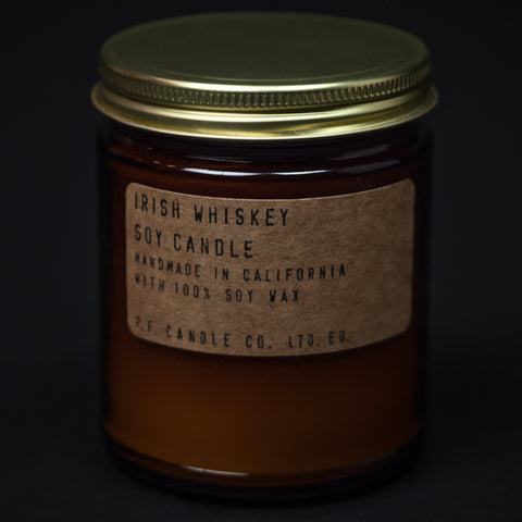 PF Candle Irish Whiskey Soy Wax Candle at The Lodge