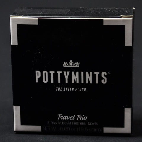 POTTYMINTS TRAVEL TRIO 3-PACK BLACK - THE LODGE  - 1