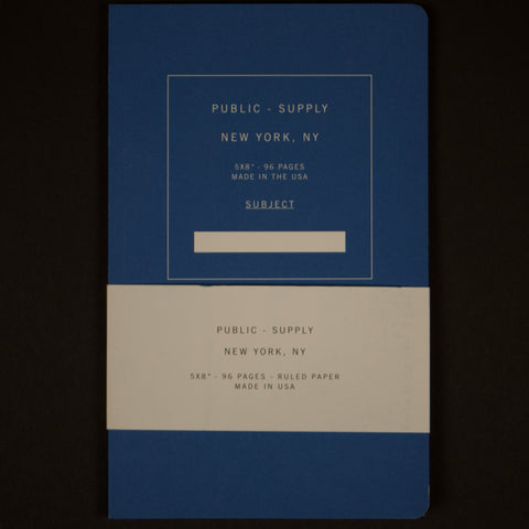PUBLIC SUPPLY BLUE 5X8 RULED - THE LODGE  - 1