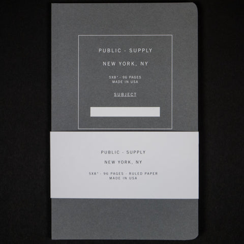 PUBLIC SUPPLY GREY 5x8 RULED - THE LODGE  - 1