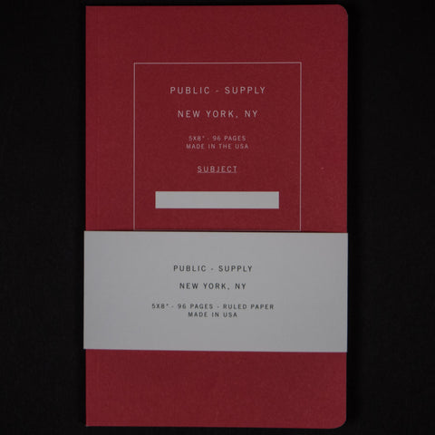 PUBLIC SUPPLY RED 5x8 RULED - THE LODGE  - 1