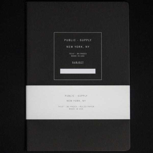 Public Supply Black 5 x 8 Ruled Notebook at The Lodge