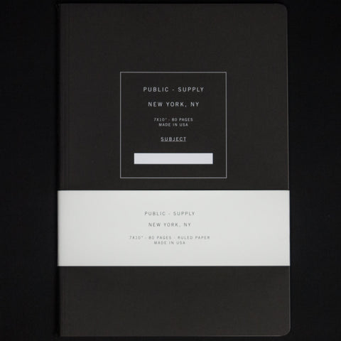 PUBLIC SUPPLY BLACK 7X10 RULED NOTEBOOK - THE LODGE  - 1
