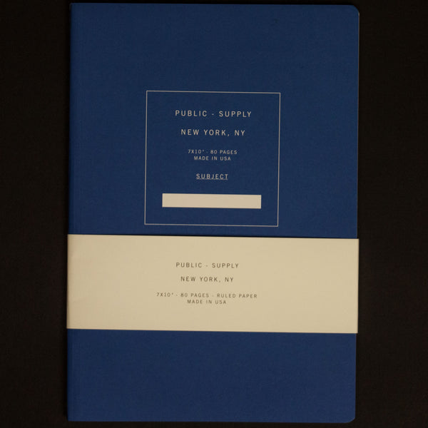 PUBLIC SUPPLY BLUE 7X10 RULED NOTEBOOK - THE LODGE  - 1