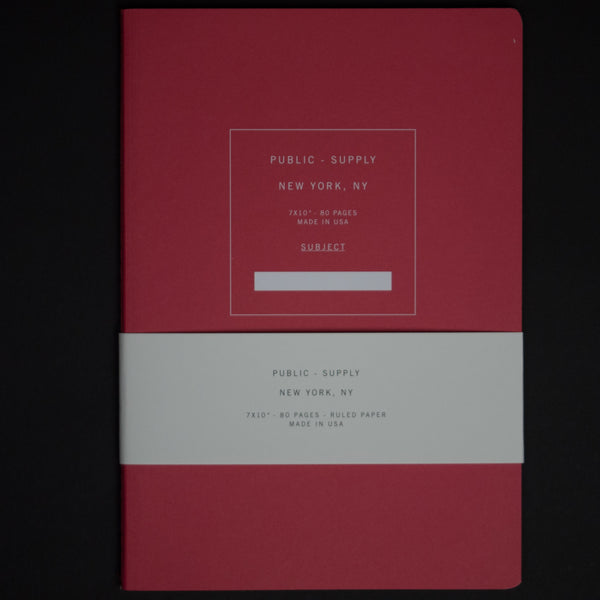 PUBLIC SUPPLY RED 7X10 RULED NOTEBOOK - THE LODGE  - 1