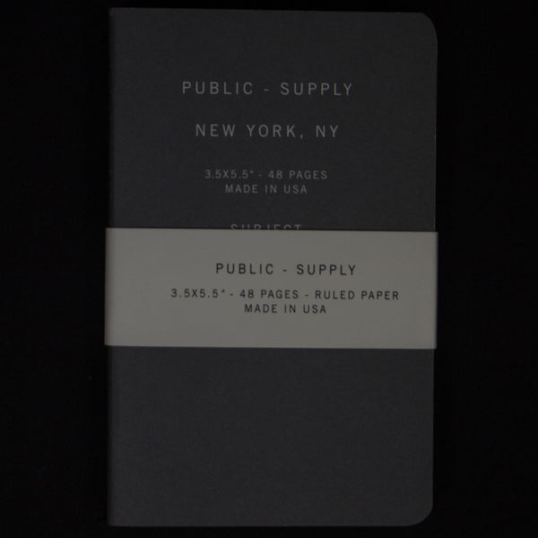 PUBLIC SUPPLY GREY 3-PACK NOTEBOOK 3.5 x 5.5 - THE LODGE  - 1