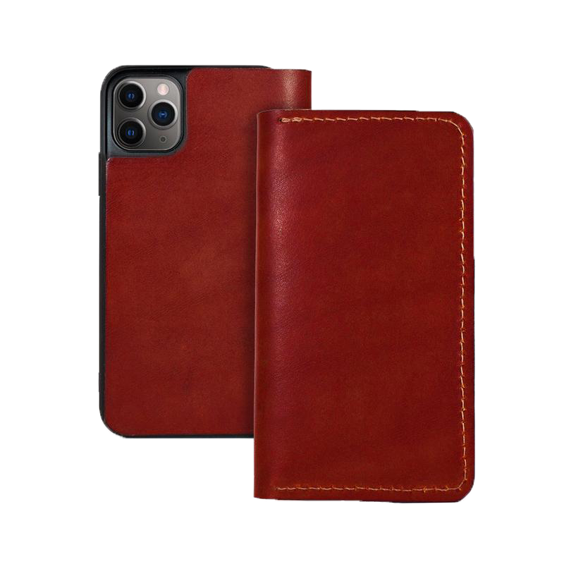 IPHONE WALLET RED LEATHER RED CLOUDS COLLECTIVE