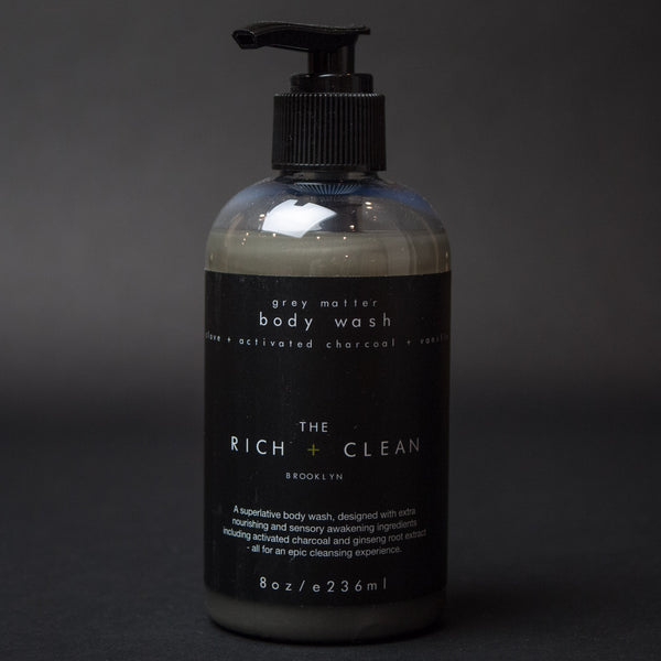 The Rich + Clean Grey Matter Body Wash at The Lodge