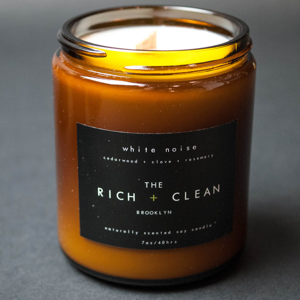The Rich + Clean White Noise Candle at The Lodge