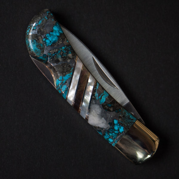 Santa Fe Stoneworks Ithaca Peak Turquoise Pocket Knives at The Lodge
