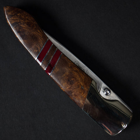 "ARIZONA IRONWOOD KNIFE RED WITH 4"" LINERLOCK - THE LODGE  - 1"