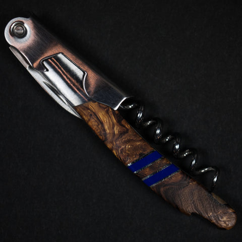 ARIZONA IRONWOOD WAITERS KNIFE - BLUE - THE LODGE  - 1